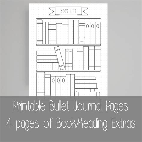 printable book journal pages bullet journal free printables calendar template 2016