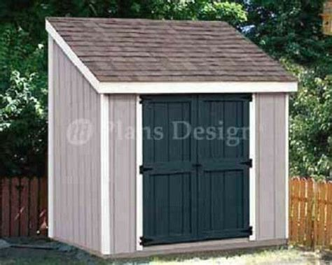 storage utility lean  shed building plans