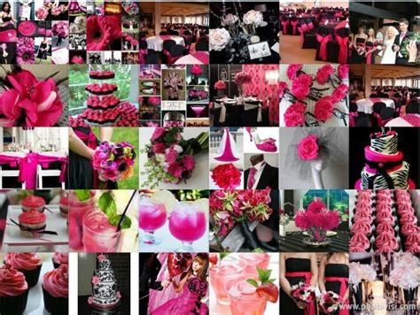 black white and fuschia wedding wedding themes colors fuschia wedding wedding