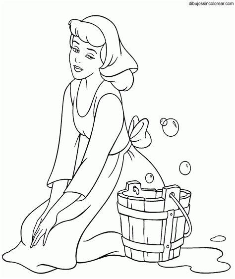 dibujos de princesas para colorear p gina 2 dibujos de cenicienta princesa disney para colorear