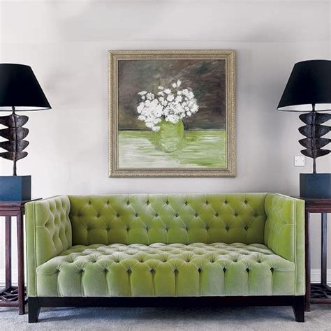 green sofas living rooms statement green sitting room sofa edwardian country