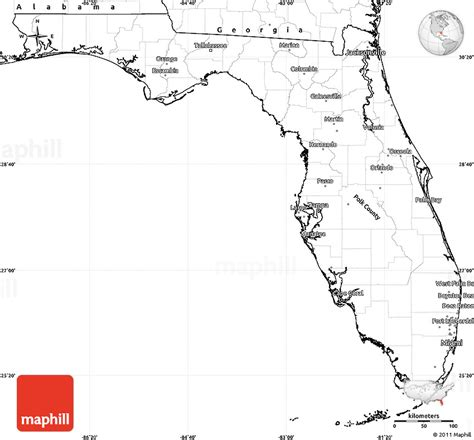 Simple Search Florida Blank Simple Map Of Florida
