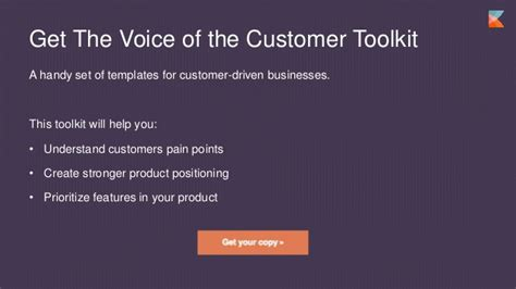 voice of the customer template voice of the customer template
