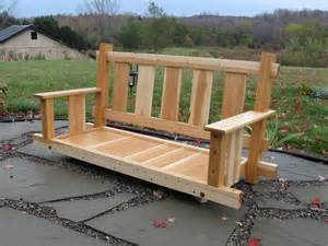 Patio Swing Plans by How To Build An Adirondack Porch Swing