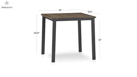 Crate And Barrel High Dining Table Rocha High Dining Table Crate And Barrel
