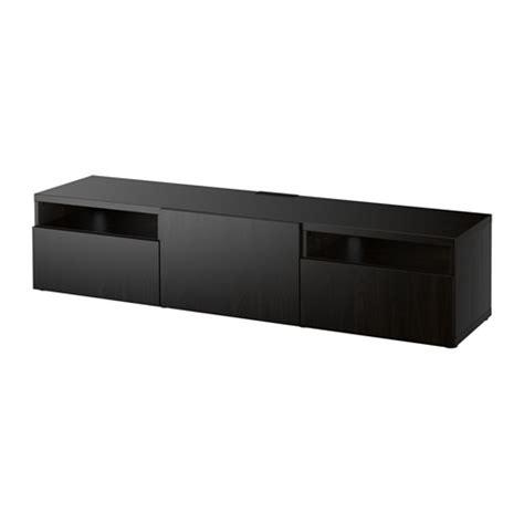 ikea besta black best 197 tv unit lappviken black brown 180x40x38 cm