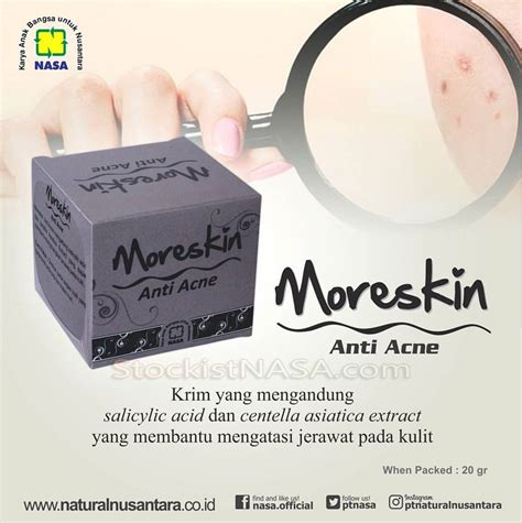 Moreskin Clean And Glow moreskin anti acne nasa khusus kulit berjerawat