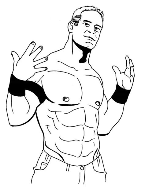 free coloring pages of john cena wrestler