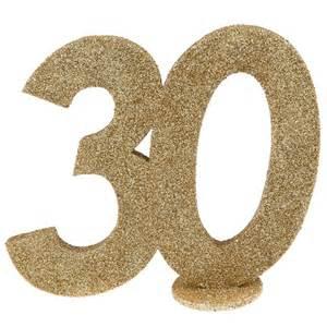 d 233 coration chiffre anniversaire 30 ans or
