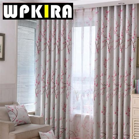 plum flower curtains online buy wholesale fabric draperies from china fabric