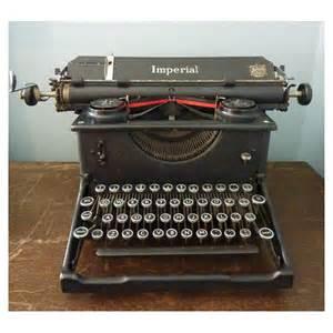 Wooden Desks Original Black Imperial Typewriter Mayfly Vintagemayfly