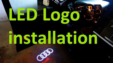led light installation car one minute diy laser car logo led light installation