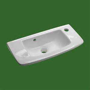 Wall mount bathroom sink small white basin with overflow