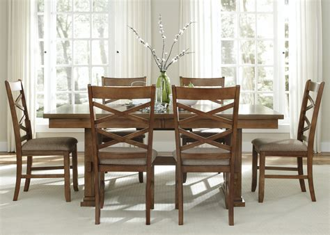 Trestle Dining Table Sets Liberty Furniture Bistro 7 Pc Trestle Dining Set Dining Table Sets At Hayneedle