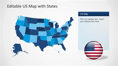 united states and canada map usa and canada combo powerpoint map