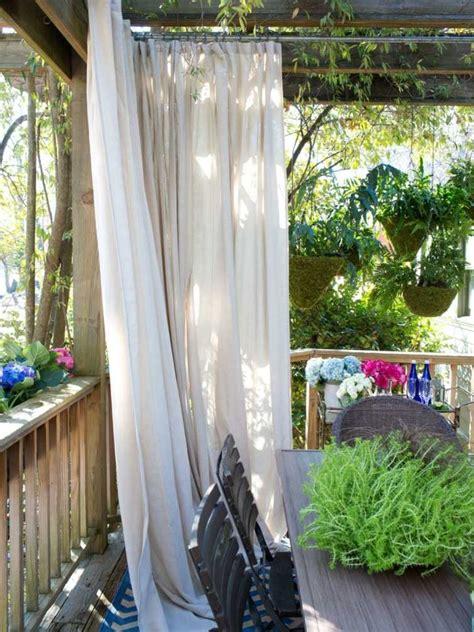 vorhänge terrasse sichtschutz garten selber bauen gartens max