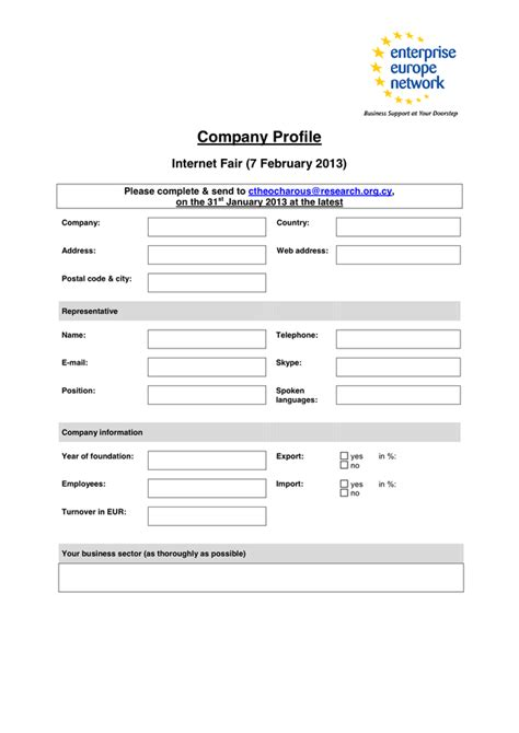 sle company profile in word and pdf formats