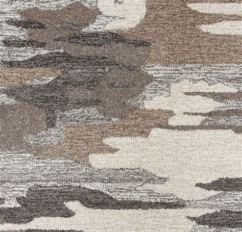 nature pattern rug suffolk camo pattern wool area rug in brown natural 10
