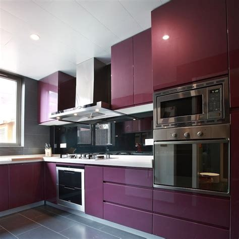 Purple Kitchen Wallpaper by Thickening Shiny Purple Pvs Self Adhesive Wallpaper Pvc
