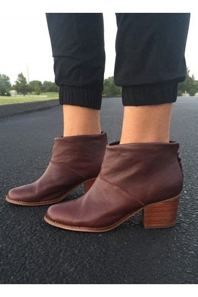 are tons comfortable toms leila oxblood full grain leather bootie comfortable