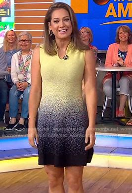 ginger zee dress today wornontv ginger s yellow and black sleeveless dress on