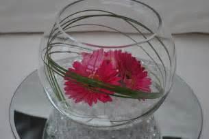 s flower studio gerbera fish bowl