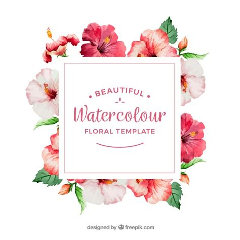 cornice con fiori cornice decorativa con fiori di acquerello scaricare