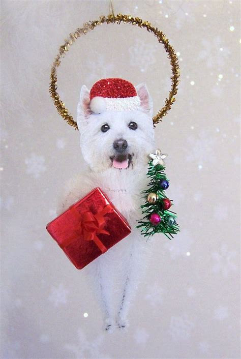 westie christmas ornament feather tree 2