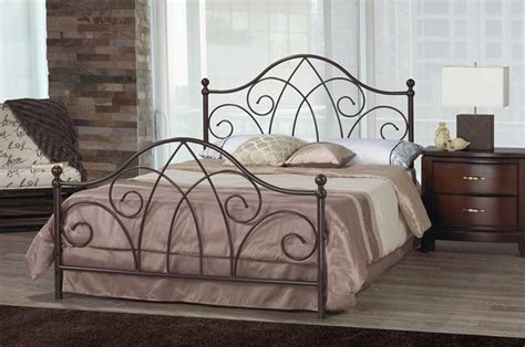 wrought iron bed frame queen brittany scroll caramel brown wrought iron queen bed frame
