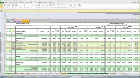 T4c4 Estimate Template 201 Advanced Excel Youtube Construction Estimating Spreadsheet Template Xls