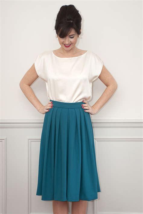 Pattern Pleated Skirt sew it lizzie skirt sewing pattern sew it