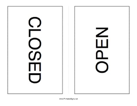 Open Closed Sign Template by Printable Open Closed Sign
