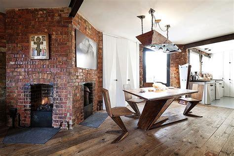 exposed brick apartments exposed brick walls meet sustainable modern design in splendid london apartment