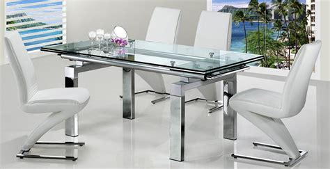 Expandable Glass Dining Table Elegant Expandable Dining Extending Glass Dining Table