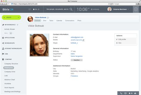 php profile page template bitrix24 directorio de empleados y b 250 scador de empleados
