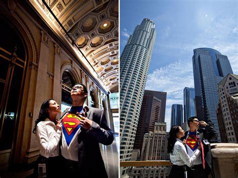 superman themed engagement photos bridalguide