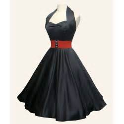Red balck purple satin swing dress from vivien of 1950s dresses from