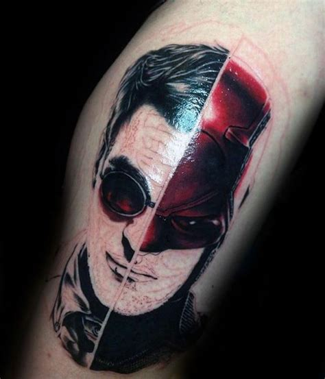 daredevil tattoo 50 daredevil designs for marvel comic ink ideas