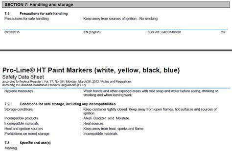 msds flashpoint section fiches de donn 233 es de s 233 curit 233 page 233 ducation markal