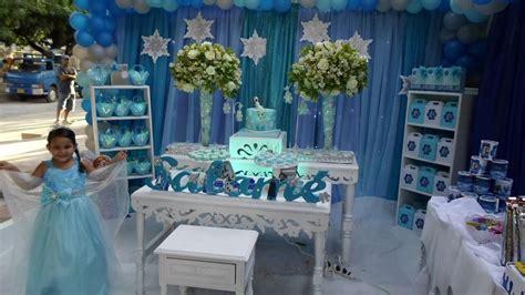ideas para decorar un salon de frozen decoraci 211 n fiesta frozen youtube