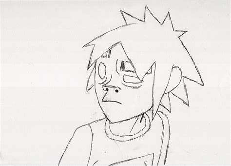 2d sketch gorillaz coloring pages coloring pages