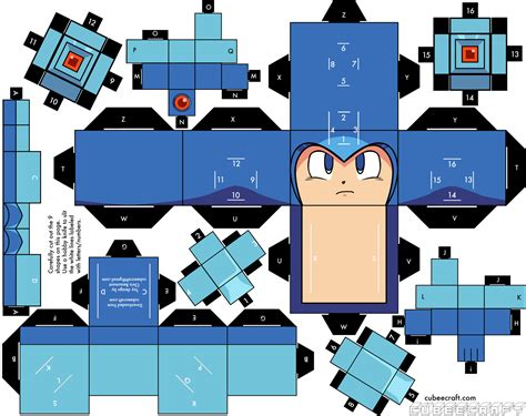 Megaman Papercraft - mega gt thread gt mega cubeecraft