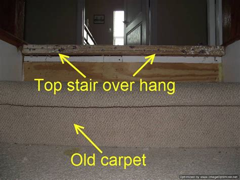 can you go to the carpet of the oscars installing laminate on top stair to carpet