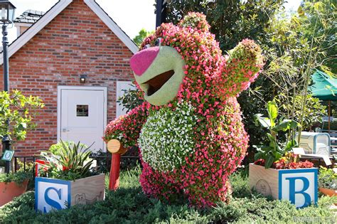 Dvc Land Spring Blossoms At The Epcot International International Flower And Garden Festival
