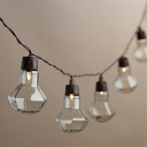 Led Bulb String Lights Clear Solar Led 20 Bulb String Lights World Market