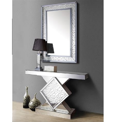 mirror console mirrored console table shop for cheap tables and save