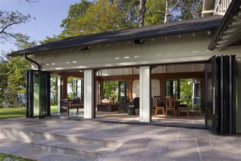 Patio Doors That Slide Into Wall Sliding Glass Walls Blend Efficiency Esthetics Sfgate