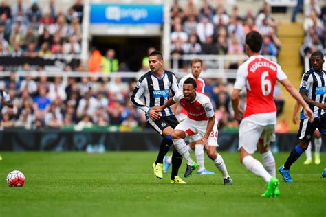 aleksandar mitrovic photos photos arsenal v newcastle newcastle s red danger why has no player been dismissed