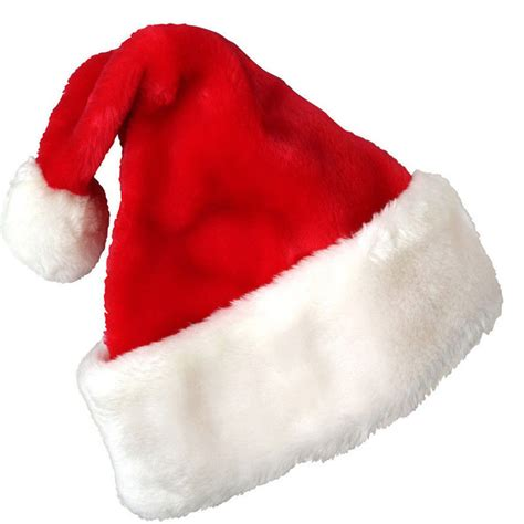 2016 christmas party santa hat velvet red and white cap