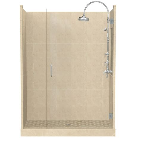 bath and shower kits shop american bath factory panel medium fiberglass and plastic composite wall and floor alcove